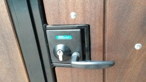 mortice lock built into your gate