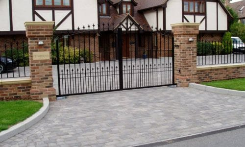 Keep secure with a mortice lock built into your gate
